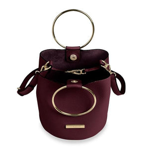 Katie Loxton Suki Mini Bucket Bag - Burgundy