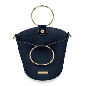 Katie Loxton Suki Mini Bucket Bag - Navy