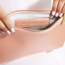 Load image into Gallery viewer, Secret Message Pouch - Oooh La La/Girls Just Wanna Have Fun Metallic Peach