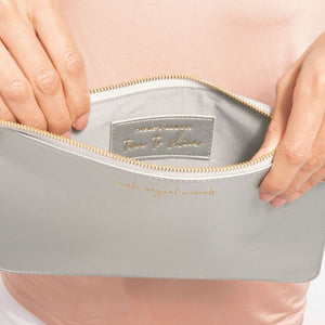 Secret Message Pouch - Create Magical Moments/There's Always Time To Shine Metallic Silver