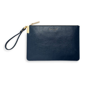 Katie Loxton Secret Message Pouch - Heart of Gold/To My Wonderful Mom Navy Blue
