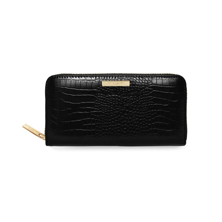 Katie Loxton Celine Faux Large Croc Purse/Wallet - Black