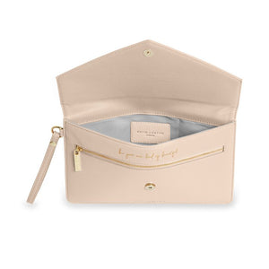 Esme Envelope Clutch Bag | Be Your Own Kind of Beautiful - Nude Pink