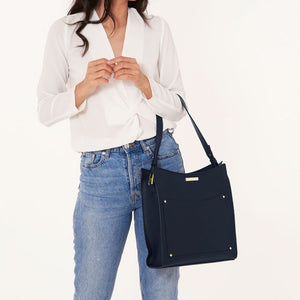 Katie Loxton Pacey Pocket Shoulder Bag - Navy