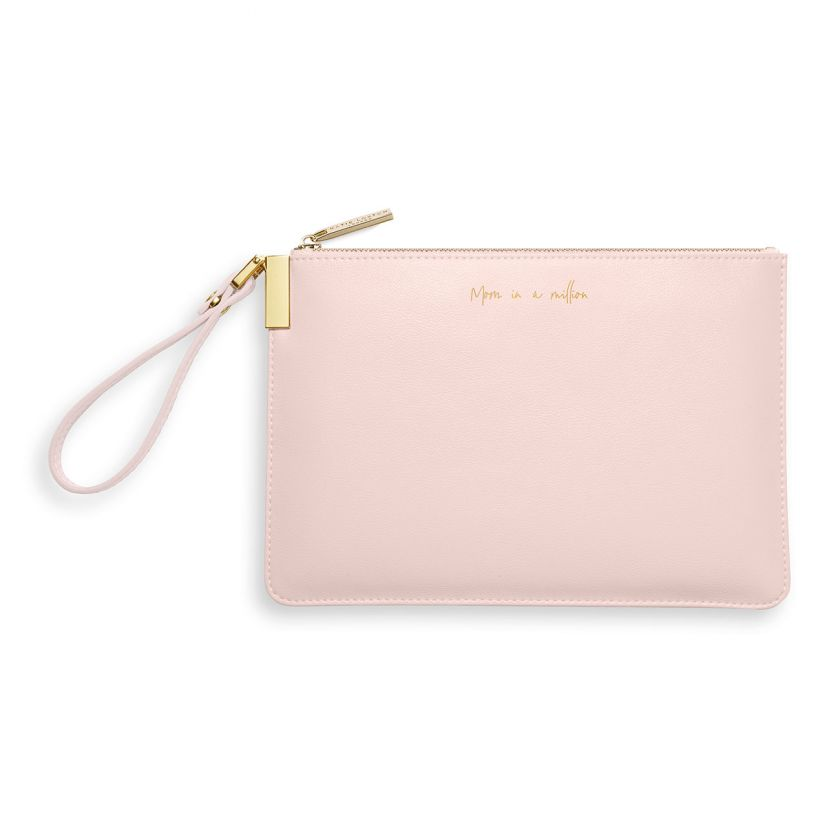 Katie Loxton Secret Message Pouch - Mom In A Million/Mom You're One In A Million Pink