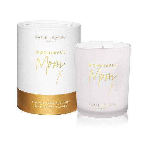 Katie Loxton Wonderful Mom Candle - Pomelo and Lychee Flower