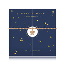 Load image into Gallery viewer, Katie Loxton Make A Wish - Star - Yellow Gold Star Charm Bracelet