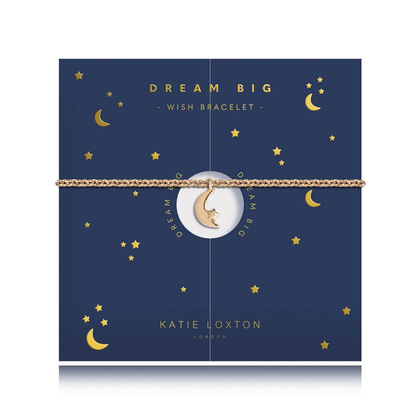 Katie Loxton Wish - Moon - Yellow Gold Moon Charm Bracelet