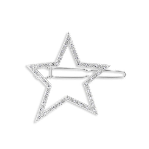 Katie Loxton Hair Accessory - Pave Star Silver Clip