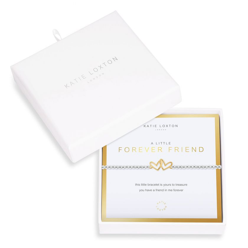 Katie Loxton Beautifully Boxed A Littles - Forever Friend Silver Bracelet- 6.8
