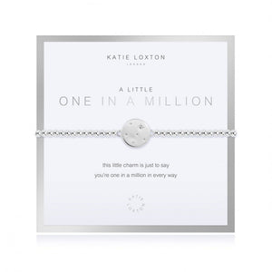 "Beautifully Boxed A Littles - One in a Million Silver Bracelet- 6.8"" Stretch"