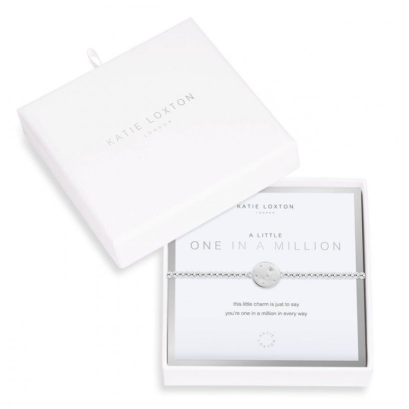Beautifully Boxed A Littles - One in a Million Silver Bracelet- 6.8