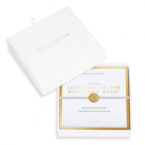 Katie Loxton Beautifully Boxed A Littles - Love You To Moon And Back Silver Bracelet- 6.8