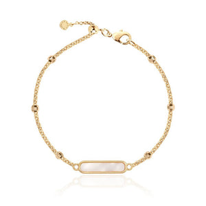 "Anklet - Gold With Gold Shell Charm,  10.2"" Adjustable Length"