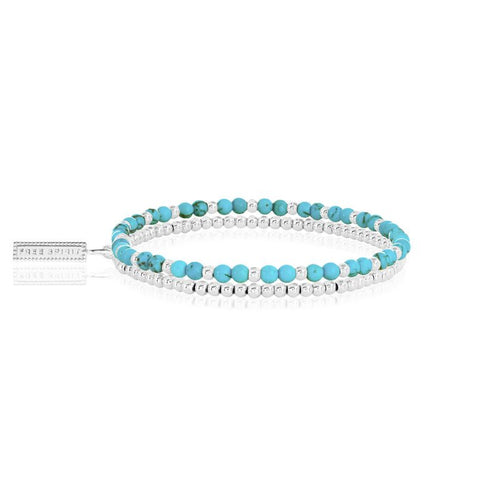Katie Loxton Signature Stones - Free Spirit - Turquoise Silver Double Layered Bracelet