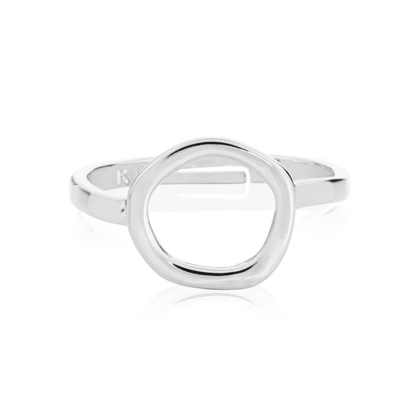 Katie Loxton Isla Silver Pearl Open Ring Adjustable Size