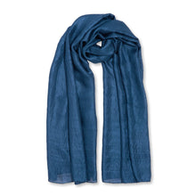 Load image into Gallery viewer, Wrapped Up in Love Boxed Silky Scarf - Navy
