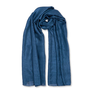 Wrapped Up in Love Boxed Silky Scarf - Navy