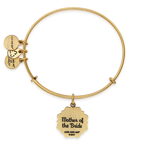 Mother of the Bride Charm Bangle Gold