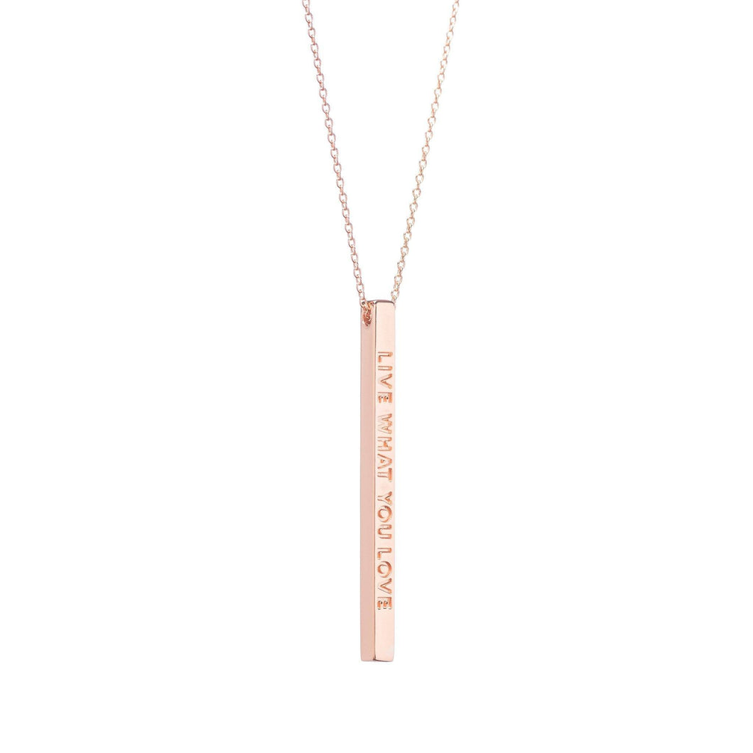Mantraband Necklace Live What You Love - Rose Gold
