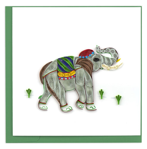 Quilled Elephant Card