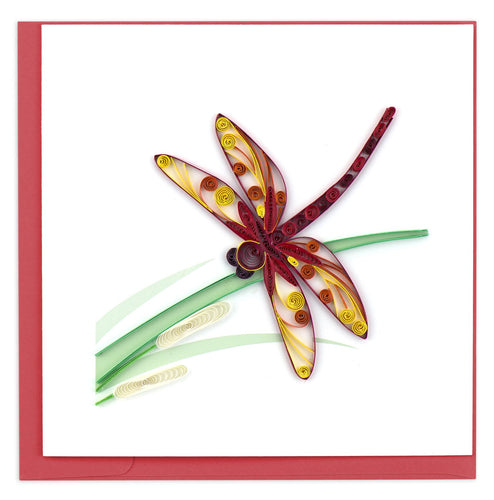 Quilled Dragonfly Card