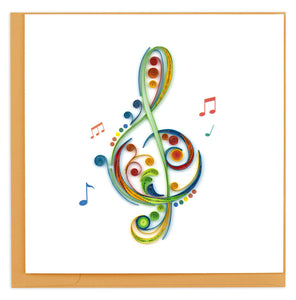 Quilled Treble Cleff Card
