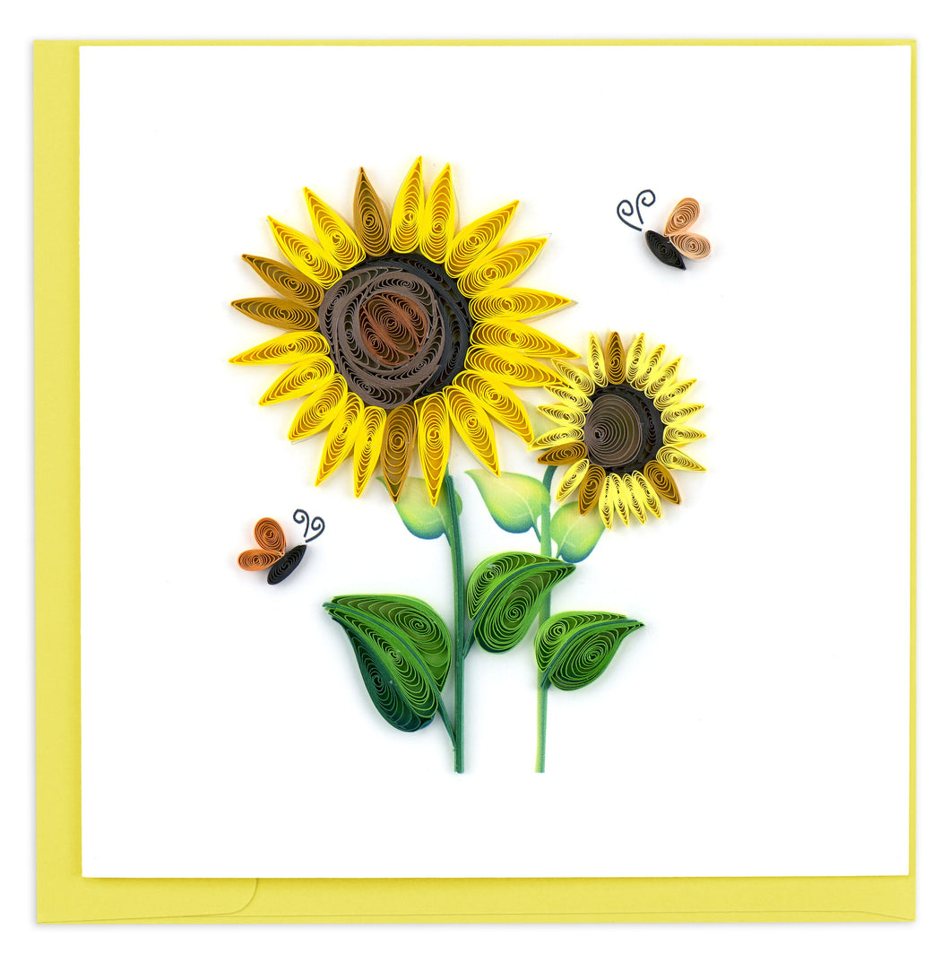 Quilled Sunflower Card