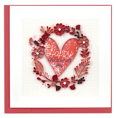 Quilled Happy Valentines Day Card
