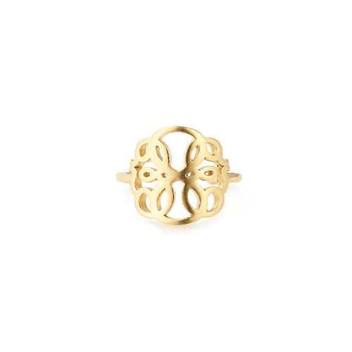 Path of Life Adjustable Ring - 14kt Gold Plated