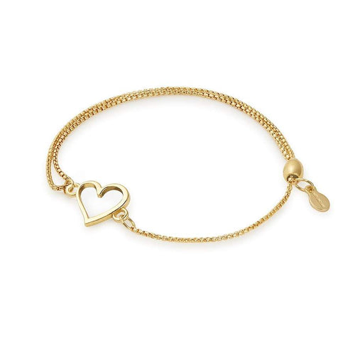 Alex and Ani Heart Pull Chain Bracelet