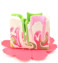 Load image into Gallery viewer, Silicone Flower Soap Dish Pink