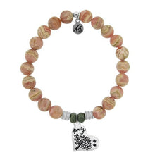 Load image into Gallery viewer, T. Jazelle Rhodochrosite Stone Bracelet with Family Tree Sterling Silver Charm