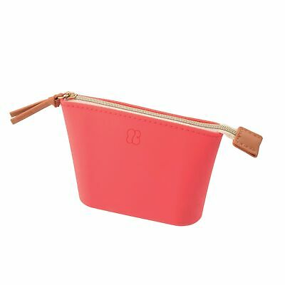 Lihit Lab Bloomin Soft Silicone Zippered Pouch Small - Poppy Red
