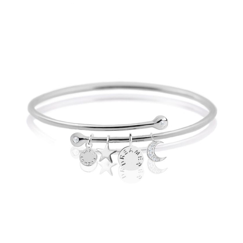 Story Bangle - Dreamer - Silver Bangle