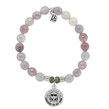 Load image into Gallery viewer, T. Jazelle Sunstone Stone Bracelet with Life's a Journey Sterling Silver Charm