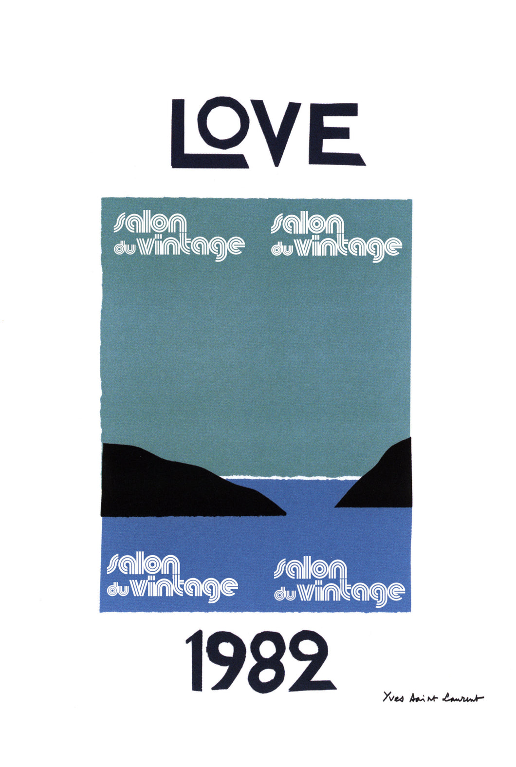 AFFICHE LOVE YVES SAINT LAURENT 1982