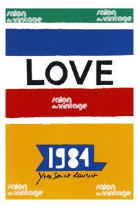 AFFICHE LOVE YVES SAINT LAURENT 1984