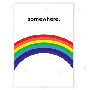 SOMEWHERE - Contemporary Poster Print