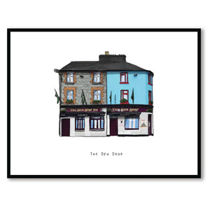 The DEW DROP - Galway Pub Print - Made in Ireland