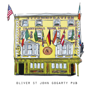 OLIVER ST JOHN GOGARTY - Dublin Pub Print - Made in Ireland
