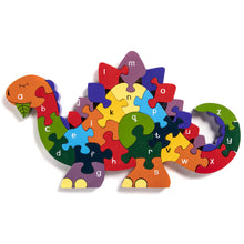 Load image into Gallery viewer, DINOSAUR - Wooden Alphabet Jigsaw Puzzle