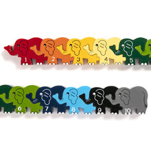 Load image into Gallery viewer, ELEPHANT ROW - Wooden Number Jigsaw Puzzle