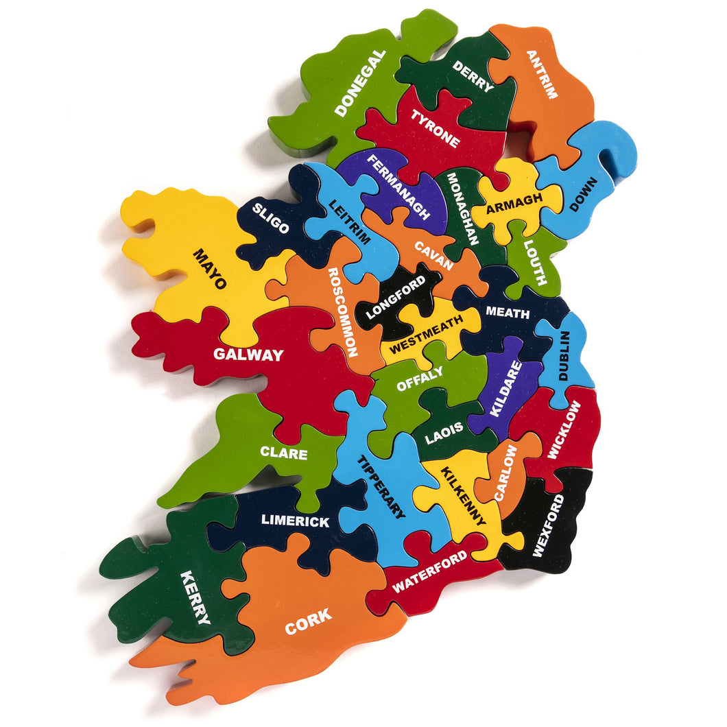 MAP OF IRELAND - Wooden Jigsaw Puzzle
