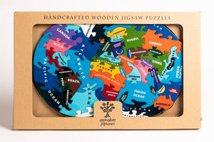 MAP OF WORLD - Wooden Jigsaw Puzzle
