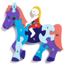Load image into Gallery viewer, HORSE - Wooden Number Jigsaw Puzzle