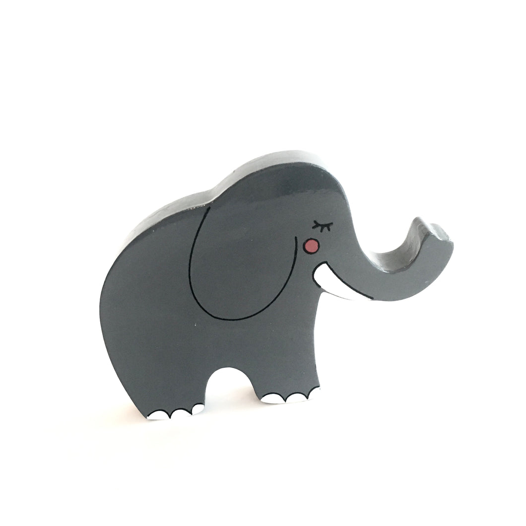 ELEPHANT - Wooden Animal Magnet