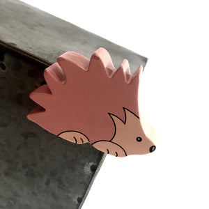 HEDGEHOG - Wooden Animal Magnet