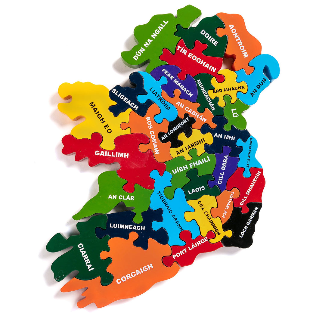 Map Of Ireland - Irish