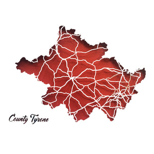 TYRONE - Papercut map - Designed Imagined Made in Ireland